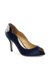 Jl By Judith Leiber Isabelle Peep Toe Pumps Navy