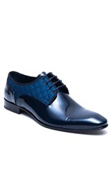 Jared Lang Men's Cap Toe Derby Navy