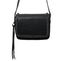 Mango Chain Cross Body Bag Black
