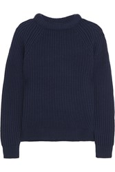 Nlst Ribbed Merino Wool Sweater Blue
