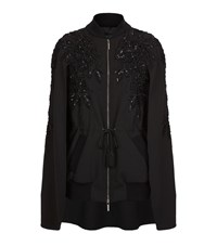 Elie Saab Sequin Embroidered Cape Female Black