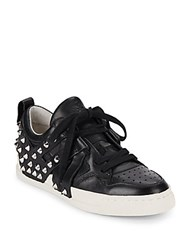 Ash Extra Spiked Leather Sneakers Black