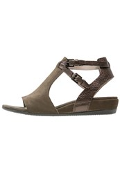 Ecco Touch Wedge Sandals Tarmac Oliv