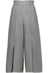 Proenza Schouler Cropped Tweed Culottes Stone