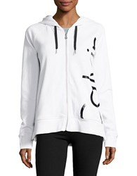 Calvin Klein Hooded Long Sleeve Jacket White
