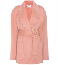 Acne Studios Lilo Wool And Cashmere Coat Pink