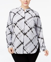 Alfani Plus Size Plaid Shirt Only At Macy's Contemporary Plaid