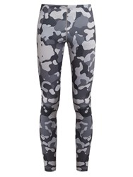 Newline Imotion Camouflage Print Running Leggings Grey Multi