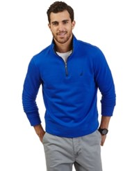 Nautica Big And Tall Quarter Zip Front Fleece Twilight Blue