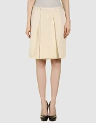 Calvin Klein Collection Knee Length Skirts Ivory