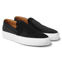 Armando Cabral Bowery Embossed Velvet Slip On Sneakers Black