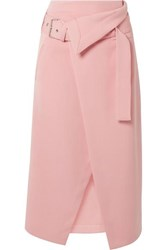 3.1 Phillip Lim Belted Asymmetric Twill Wrap Skirt Pink