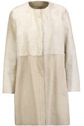 Karl By Karl Donoghue Shearling Coat Off White