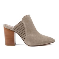 H Shoes By Hudson Women's Audny Suede Heeled Mules Taupe Grey