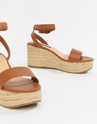 Stradivarius Espadrille Wedge Tan