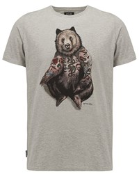 Animal Graphic Tee Grey Marl