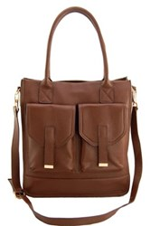 Erica Anenberg Madison Leather Crossbody Brown
