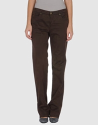 Caramelo Casual Pants Dark Brown