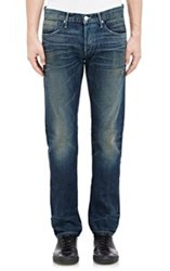 3X1 Distressed Slim Fit Selvedge Jeans Blue