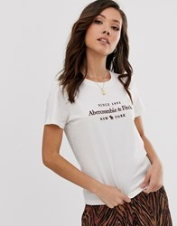 Abercrombie And Fitch Logo T White
