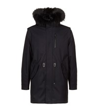 Mackage Moritz Fur Trim Parka Male Navy
