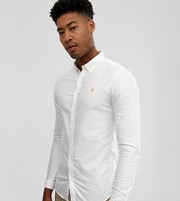 Farah Skinny Fit Button Down Oxford Shirt In White