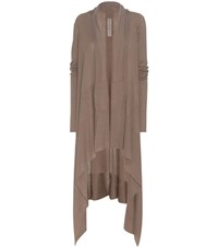 Rick Owens Wool Open Cardigan Brown