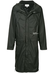 Makavelic Mot Long Raincoat Black