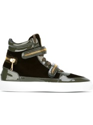 Louis Leeman Velcro Fastening Hi Top Sneakers Green