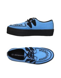 Underground Lace Up Shoes Sky Blue