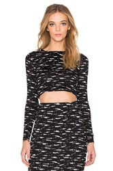 Rvca Serenade Crop Top Black And White
