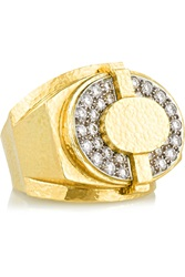 David Webb 18 Karat Gold And Platinum Diamond Ring