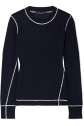 Rag And Bone Shannon Wool Sweater Navy