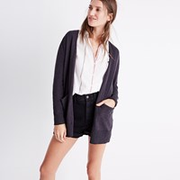 Madewell Summer Ryder Cardigan Sweater Black Coal