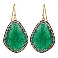 Carousel Jewels Green Aventurine And Crystal Drops Gold Green