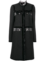 Giambattista Valli Bow Detail Coat Black