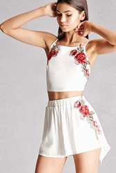 Forever 21 Reverse Crop Top And Short Set
