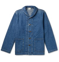 Orslow Shawl Collar Denim Jacket Blue