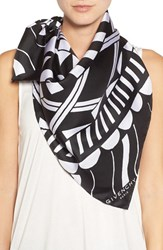 Givenchy Women's 'Power Of Love' Square Silk Scarf Black White