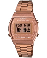 Casio Men's Digital Rose Gold Tone Stainless Steel Bracelet Watch 39X35mm B640wc 5Amt