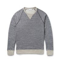 Richard James Loopback Cotton Jersey Sweater Blue