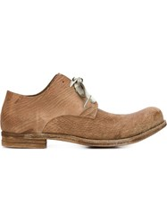 A Diciannoveventitre Distressed Derby Shoes Brown
