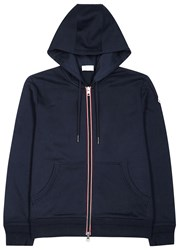 Moncler Navy Hooded Jersey Sweatshirt