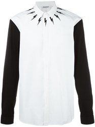 Neil Barrett Contrast Sleeve Shirt White