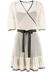 Red Valentino Knitted Wrap Dress 60