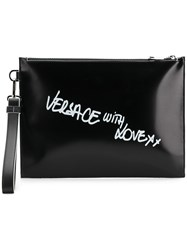 Versace With Love Clutch Bag Black