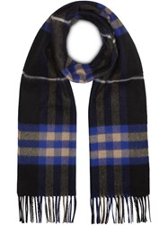 Burberry The Classic Cashmere Scarf In Check Black