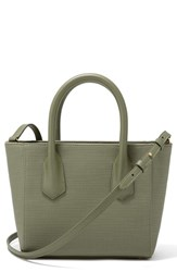 Dagne Dover Signature Petite Coated Canvas Tote Green Olive