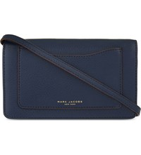 Marc Jacobs Recruit Leather Wallet Navy Blue