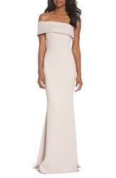 Katie May One Shoulder Cutout Crepe Gown Ballet